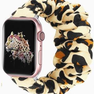 Leopard Print Scrunchie Apple Watch Band